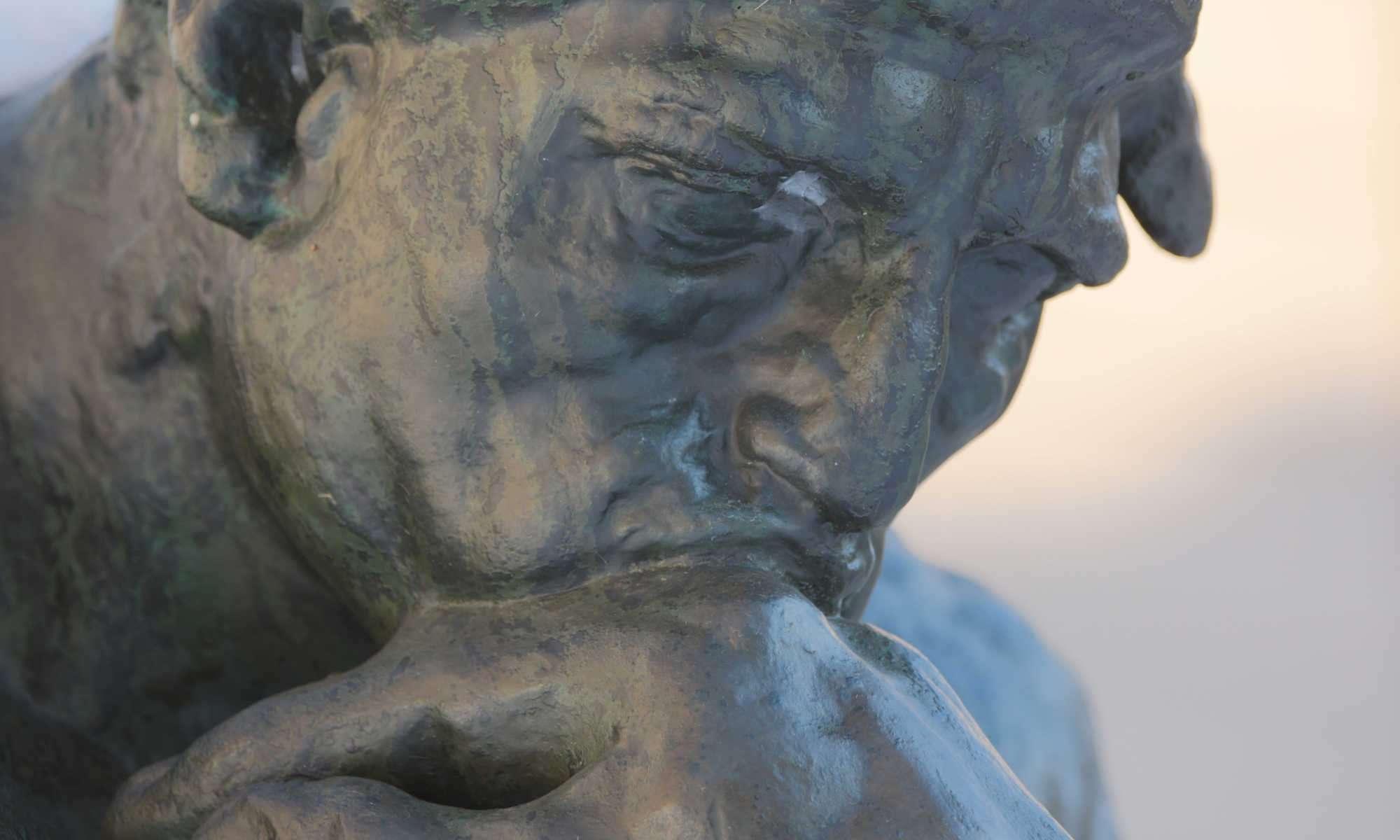 Uomo che pensa - Rodin